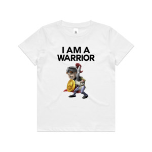 Double Sided I Am A Warrior Guy - Kid's T shirt